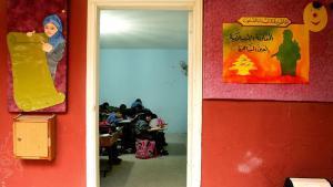 تلميذات وتلاميذ لبنانيون في إحدى مدارس الإسلام السياسي.  Foto: AFP/Raseef 22