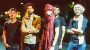 أعضاء فرقة إمرهان الجزائرية التماشقية.  (photo: Andrea Mae Perez)