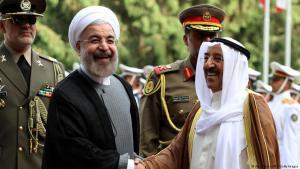 الرئيس الإيراني روحاني في زيارة للكويت التي تلعب دور الوسيط في الصراع بين العرب وإيران. الصورة. غيتي وا. ف ب