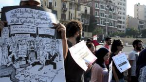 Protesting against Lebanonʹs rubbish crisis in summer 2015 (photo: Goethe-Institut/Antoine Abou-Diwan)