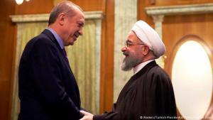 الرئيس التركي أردوغان يتسقبل الرئيس الإيراني وروحاني