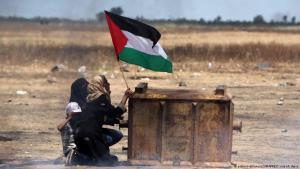 احتجاجات فلسطينية في قطاع غزة في مايو / أيار 2018. Foto: picture-alliance/ZUMAPRESS.com