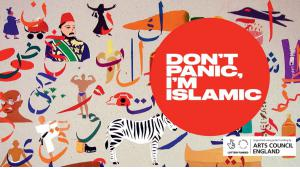 """إعلان ترويجي لكتاب """"لا ترتعب، أنا إسلامي"""". (source: designmynight.com)"""