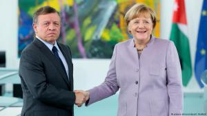 مستشارة ألمانيا أنغيلا ميركل وملك الأردن عبد الله الثاني.