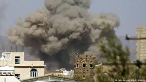 غارة جوية على قاعدة الديلمي الجوية، صنعاء، اليمن. (photo: Getty Images/AFP/M. Huwais)
