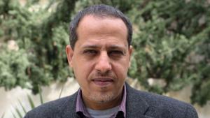 الناشط الحقوقي الفلسطيني محمود أبو رحمة حول الحياة في قطاع غزة.  (photo: Lazar Semeonov/Medico International)