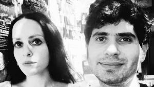 الصحفي السوري مروان هشام والفنانة والكاتبة الأمريكية مولي كراب أبل. (photo: Molly Crabapple and Marwan Hisham)