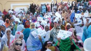 فعالية انتخابية: حملة انتخابية نظمها حزب الوئام في موريتانيا.