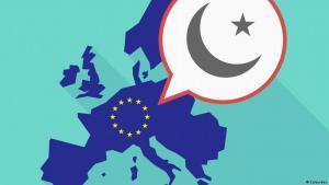 صورة رمزية للعلاقة بين أوروبا والعالم الإسلامي. الصورة دويتشه فيله