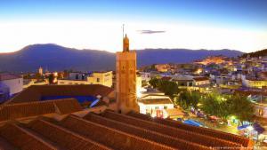 منظر لمدينة شفشاون في المغرب.   Foto: picture-alliance
