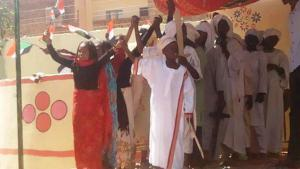 فعالية شبابية من منظمة تعليم بلا حدود في السودان.