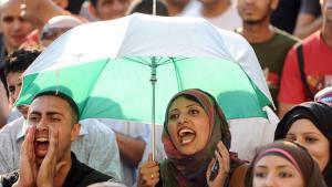مظاهرة للشباب في القاهرة - مصر.  Foto: dpa