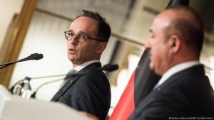 وزير الخارجية الالماني مع وزير الخارجية التركي