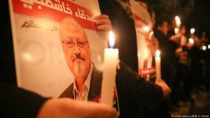 مظاهرة احتجاجية في تركيا على مقتل الصحفي السعودي  جمال خاشقجي.  (photo: picture-alliance/AA/M. E. Yildirim)