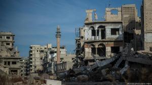 مدينة حمص السورية المدمرة.  Foto: dpa/picture-alliance