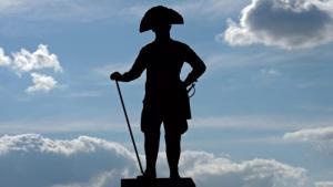 نصب تذكاري للقيصر الألماني فريدريش العظيم.  Foto: picture alliance/dpa