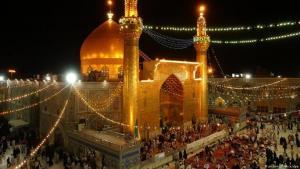 ضريح الإمام علي. جسد الإمام علي هو أول من دفن في النجف