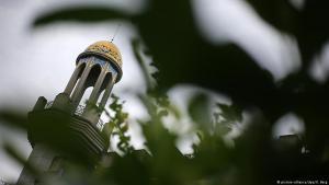 جزء من مئذنة أكاديمية الملك فهد - مدينة بون - ألمانيا 26 / 08 / 2016.  (photo: picture-alliance/dpa/O. Berg)