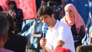 """جعفر عبد الكريم، 37 عاماً، رئيس تحرير ومدير البرنامج الشبابي """"شباب توك"""" على DW عربية . الصورة: دويتشه فيله"""