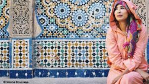 الشاعرة والكابتة المغربية الشابة فاطمة الزهراء الرياض. الصورة: إيمان بوزيان
