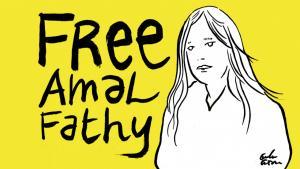 حملة للإفراج عن أمل فتحي. Foto: privat