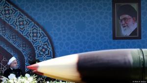 صواريخ باليستية عرضها الجيش الإيراني في عام 2017 ; Foto: IRNA