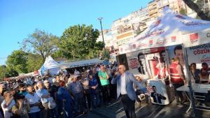 حملة انتخابات حزب الشعب الجمهوري التركي المعارض قبل الانتخابات البلدية في اسطنبول 2019.  Foto: Mariam Brehmer