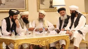 أعضاء الوفود الأفغانية يجتمعون في اليوم الثاني من الحوار الأفغاني - الدوحة - قطر. (photo: AFP/K. Jaafar)