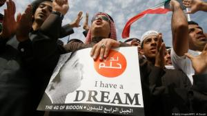 يطالب البدون باستمرار بمنحهم الجنسية الكويتية وحقوقهم المدنية. Foto: getty images/afp/Y. Al Zayyat