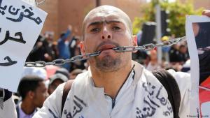 مظاهرة في العاصمة المغربية الرباط من أجل ظروف عمل أفضل. الصورة: رويترز