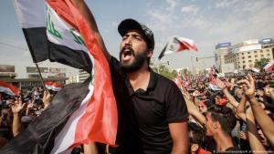احتجاجات شعبية ضد حكومة العراق - بغداد 01 / 10 / 2019.  Foto: picture-alliance/dpa