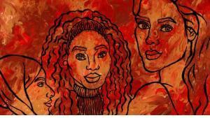 """رسم تعبيري عن النساء. حقوق الصورة © معهد غوته / """"رؤية"""" - ملينة جمال  ©Goethe-Institut e.V./Perspektiven, Melina Gamal"""