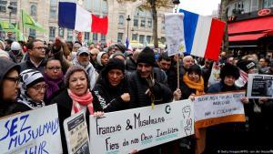 احتجاجات ضد الإسلاموفوبيا في باريس 10 / 11 / 2019. Getty Images/AFP