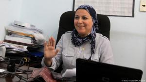 الناشطة والصحفية والمدونة المصرية إسراء عبد الفتاح. Foto: Getty Images/AFP