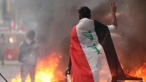 احتجاجات ضد الحكومة في بغداد - العراق 09 / 11 / 2019.  Foto: picture-alliance/AP