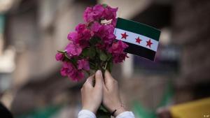 علم الثورة السورية.