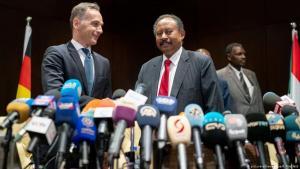 وزير الخارجية الألماني هايكو ماس ورئيس الوزراء السوداني عبد الله حمدوك في مؤتمر صحفي في الخرطوم بتاريخ 03 / 09 / 2019 - السودان. (photo: picture-alliance/dpa/K. Nietfeld
