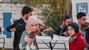 فرقة أوركيسترا من الموصل في إربيل. العراق.  Foto: Goethe-Institut/Samyan Shaboy