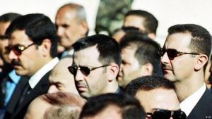 رئيس النظام السوري بشار الأسد مع شقيقه ماهر. (photo: AP)