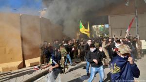 التصعيد بين واشنطن وطهران في العراق تزايد مؤخرا ووصل إلى اقتحام السفارة الأمريكية في بغداد من طرف محتجين.