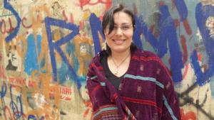 الكاتبة المصرية منصورة عز الدين - القاهرة - مصر.  Foto: Arian Fariborz