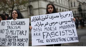 متظاهرات ضد عودة السلطوية في مصر. الصورة: Carnegie Endowment for International Peace