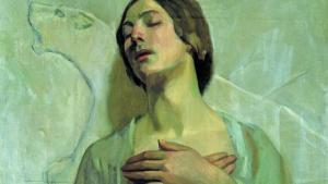 جزء من لوحة والدة الفنان لجبران خليل جبران. الصورة: حبر. تطغى صفة الكاتب جران خليل جبران (1883 – 1931)، على بقية صفاته، حيث كان أيضاً رسّاماً، ترك قرابة 700 عمل فني، لم تحظ بالاهتمام والانتشار الذين حظي بهما أدبه.