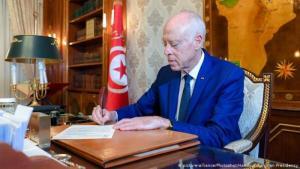 الرئيس التونسي الجديد، أستاذ القانون الدستوري قيس سعيّد (photo: picture-alliance/Photoshot/Handout Tunisian Presidency)