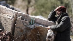 مدني سوري في محافظة إدلب. Foto: picture-alliance/dpa