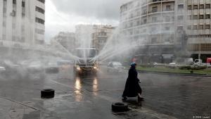وباء فيروس كورونا في سوريا - تطهير الأماكن العامة في العاصمة دمشق.  Foto: DW/H.Levent