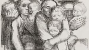 لوحة أمهات لكاتي كولفيتز. تعد كاتي كولفيتز من أشهر فناني ألمانيا في القرن العشرين.على الرغم من حياتها الصعبة تكمنت كولفيتز من الإبداع في العديد من المجالات الفنية مثل النقش على النحاس والطباعة الحجرية وكذلك الكشط.