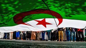 احتجاجات عارمة ضمن حراك الجزائر ضد النخبة الحاكمة. Foto: AFP/Getty Images