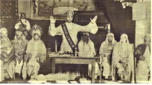 الأعضاء المؤسسون لمعبد العلوم المغربي الأمريكي.  (source: www.moorishsciencetempleofamerica.info)
