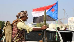 """أحد الجنود التابعين للـ """"الإدارة الذاتية في عدن"""".Bodyguard eines Separatistenführers in Aden. (Foto: Fawaz Salman/Reuters)"""